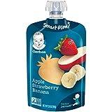 Gerber Purees 2nd Foods Apple Strawberry Banana