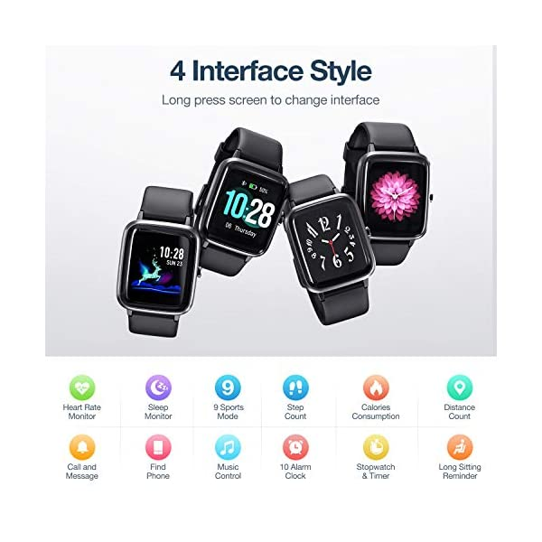 51ckWc5SNlL Muzili Smart Watch IP68 Waterproof Fitness Tracker for Swimming 1.3'' Large Color Full Touch Screen Sport Watch with…