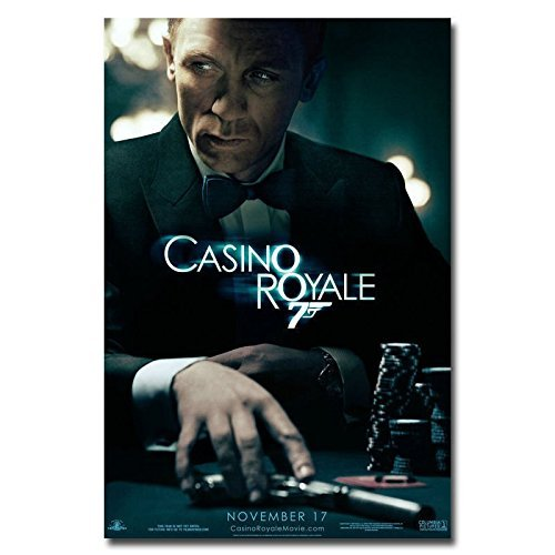 Tomorrow sunny 007 Casino Royale James Bond Movie Art Silk P