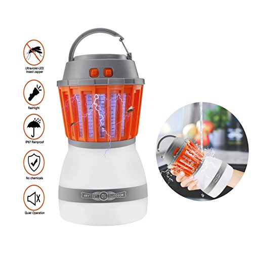 GuangTouL Bug Zapper Camping Lantern 2-in-1 IP67 Rainproof LED Light Mosquito Zapper Repellent Lantern,Tent Lantern Via USB Charge Camping Gear & Accessories for the Outdoors & Emergencies,Home &Trav by GuangTouL
