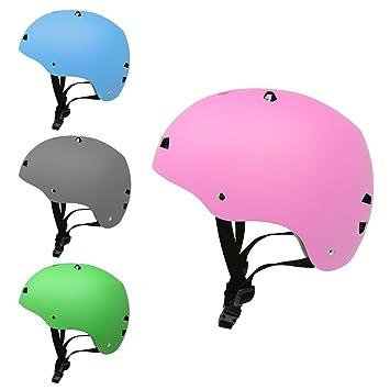 3Style Scooters® - Casco de seguridad en color rosa mate, para patinaje de piedra