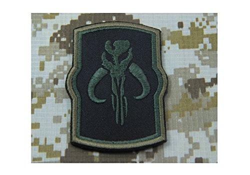 Drak-Green-STAR-WARS-Boba-Fett-Mandalorian-Bantha-BOUNTY-HUNTER-Tactical-military-morale-Airsoft-Patch-Hook-Backing
