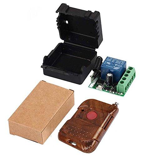 QIACHIP 433Mhz Universal Wireless Remote Control Switch DC 12V 1CH Relay Receiver Module RF Transmitter 433 Mhz Remote Controls (Transmitters 1 Button+ 1 Receiver ()