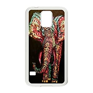 Custom Colorful Case for SamSung Galaxy S5 I9600, Colored Elephant Cover Case - HL-697570