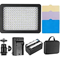 Neewer Dimmable 160 LED Light Camera Video Lighting Kit Includes:160 LED Panel,Mini Ball Head,4 Color Filters,Rechargeable Li-ion Battery,Battery Charger and Carrying Case for DSLR Camera DV Camcorder