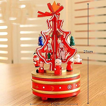 lianji caja musical, caja de música para árbol de Navidad, regalo de cumpleaños, melodia, caja de música Approx. 21x11cm rosso: Amazon.es: Hogar