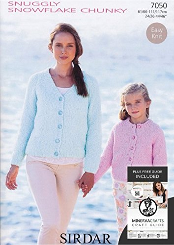 Sirdar Snuggly Snowflake Chunky Ladies Girls Cardigans Knitting