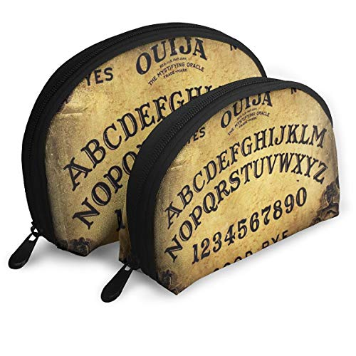 Dangerous Magical Game Ouija Board Pattern 2pcs Trendy Portable Bags Clutch Pouch- Half Moon Cosmetic Beauty Bag for Women,Travel Handy Organizer Pouch ()