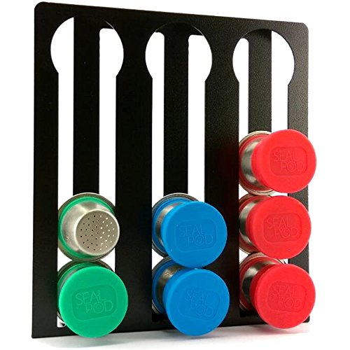 Nespresso Capsule Holder Stand for OriginalLine Nespresso Pods - Vertical Patent-Pending Coffee Pod Storage for up to 12 (Patent Pending Design)
