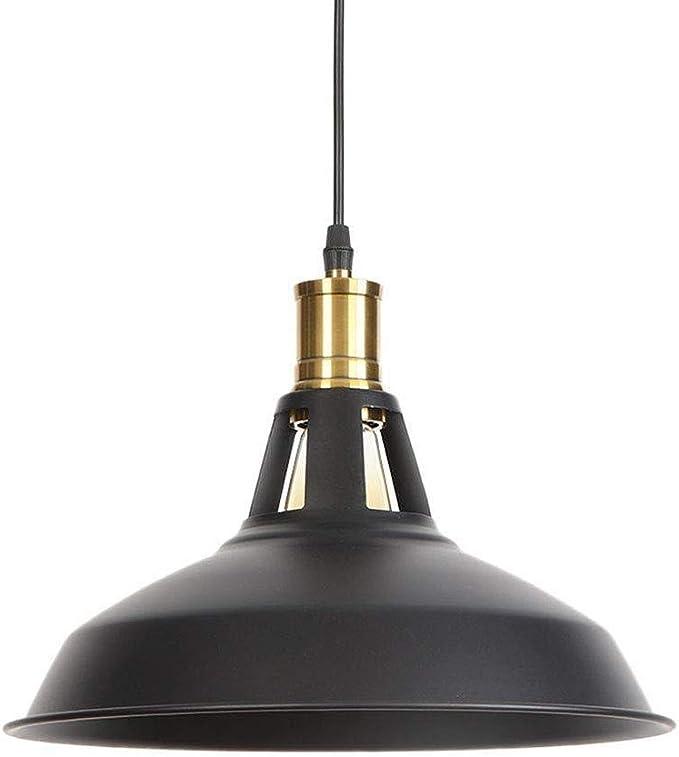 Lámpara Colgante Lámpara De Techo Rústica E27 Portalámparas Negro ...
