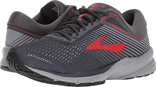 487f6c0511044 Galleon - Brooks Men s Launch 5 Ebony Grey Red 14 D US