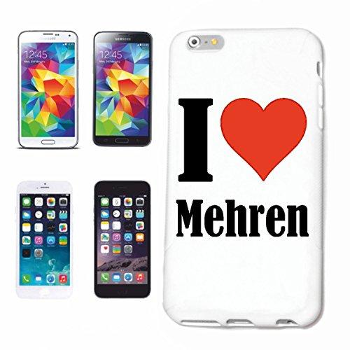 """Handyhülle iPhone 4 / 4S """"I Love Mehren"""" Hardcase Schutzhülle Handycover Smart Cover für Apple iPhone … in Weiß … Schlank und schön, das ist unser HardCase. Das Case wird mit einem Klick auf deinem Sm"""