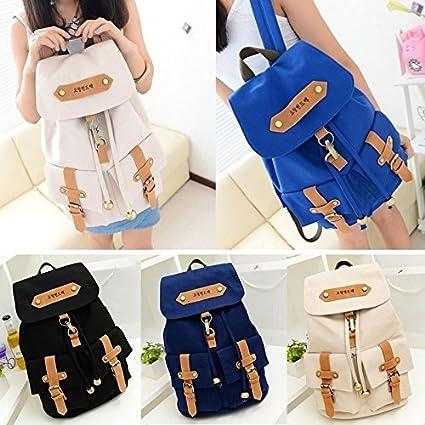 Sufang Hot Sale New Fashion Versatile Vintage Cute Boy   Girls Canvas  Backpacks Student School bag 32b082e11bdaf