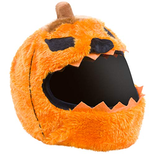 Moto Loot Helmet Cover for Motorcycle Helmet, Fun Rides and Gifts (Evil Pumpkin)
