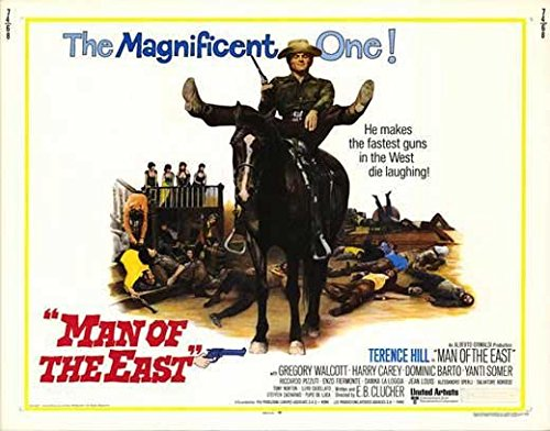 Man of the East Circular Movie (1974) Style A 11 x 14 Inches - 28cm x 36cm (Terence Hill)(Gregory Walcott)(Yanti Sommer)(Dominic Barto)(Harry Carey Jr)