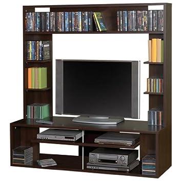 TV Medienwand Anbauwand TV U0026 Hifi Möbel (144x148x42, Mehrere Etagen) Choco/
