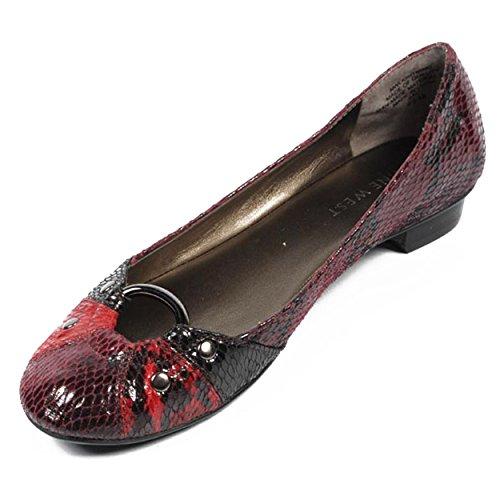 NINE WEST - Zapatos Bailarina Para Mujer NWLIGHTNING DARK RED MULTI Tacón: 2 cm