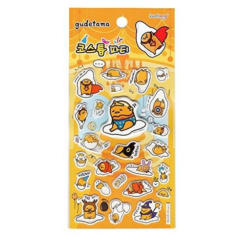 Sanrio Gudetama Lazy Egg Epoxy Puffy 3D Stickers : Gudetama in Costume -