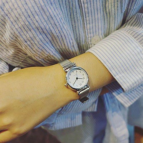 - Women Quartz Analog Wrist Watch Small Dial Delicate Watch Luxury Business Watches (White)