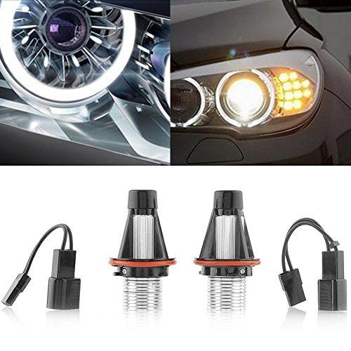 KATUR-2Pcs-6W-Angel-Eyes-Bridgelux-Chip-LED-Marker-White-For-BMW-E39-E53-E60-E61-E63-E64-Led-Car-External-Light