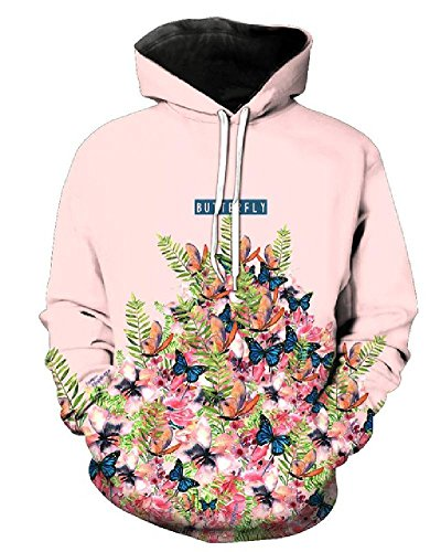 3D Hoodies Butterfly Flower Men Women New Fashion Autumn Winter Pullover Tracksuit Casual Long Sleeve Brand Sweatshirts