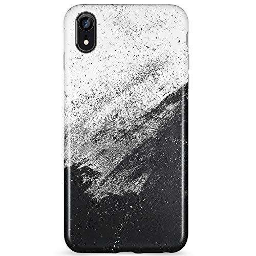 (LUMARKE iPhone Xr Case,Cute Black White Design for Men Girls Women Slim-Fit Glossy TPU Clear Bumper Flexible Soft Rubber Silicone Best Protective Phone Case Cover for iPhone XR [6.1