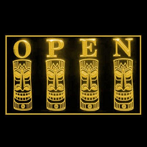 Tiki Open Tent Hut Tropical Paradise Poolside Awesome Bar LED Light Sign 170199 Color Yellow (Tiki Paradise Hut)