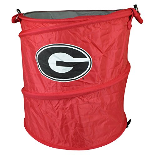 NCAA Georgia Bulldogs 3 in 1 Collapsible Trash Can Hamper Cooler Red Beach Home (New York Jets Hamper compare prices)