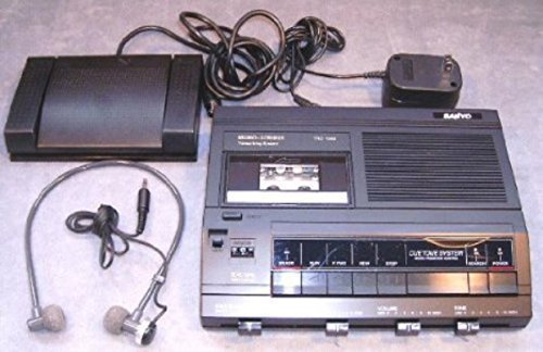 Sanyo Trc 5020 Memoscriber Microcassette Transcriber W/Foot Switch, Ac Adapter, Headset