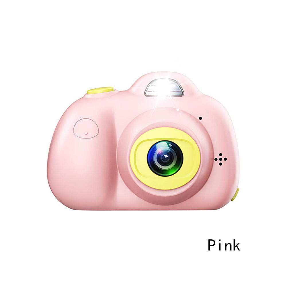 RONSHIN Kids Camera, Cute Portable 2.0'' LCD Mini Camera Dual Cameras 8.0MP Kids Children Digital Camera Pink by RONSHIN