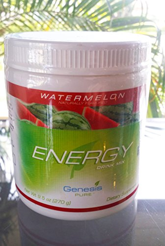 Genesis Pure Energy With Wheat Grass Watermelon Sugar Free Powder Mix Dietary Supplement Net Wt  9 5 Oz  270G