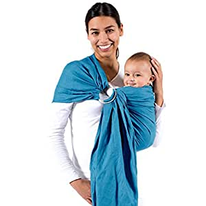 Beco Ring Sling Baby Carrier Ocean - Natural Wrap for Baby from Birth to Toddler - Fashionable and Comfortable