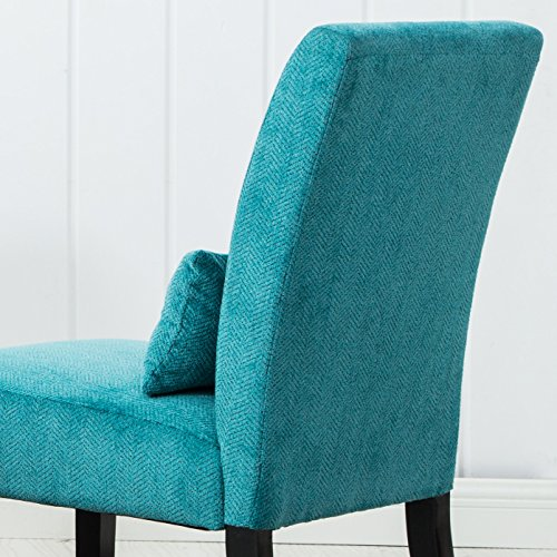 Teal Blue Accent Chair: Roundhill Furniture Pisano Teal Blue Fabric Armless