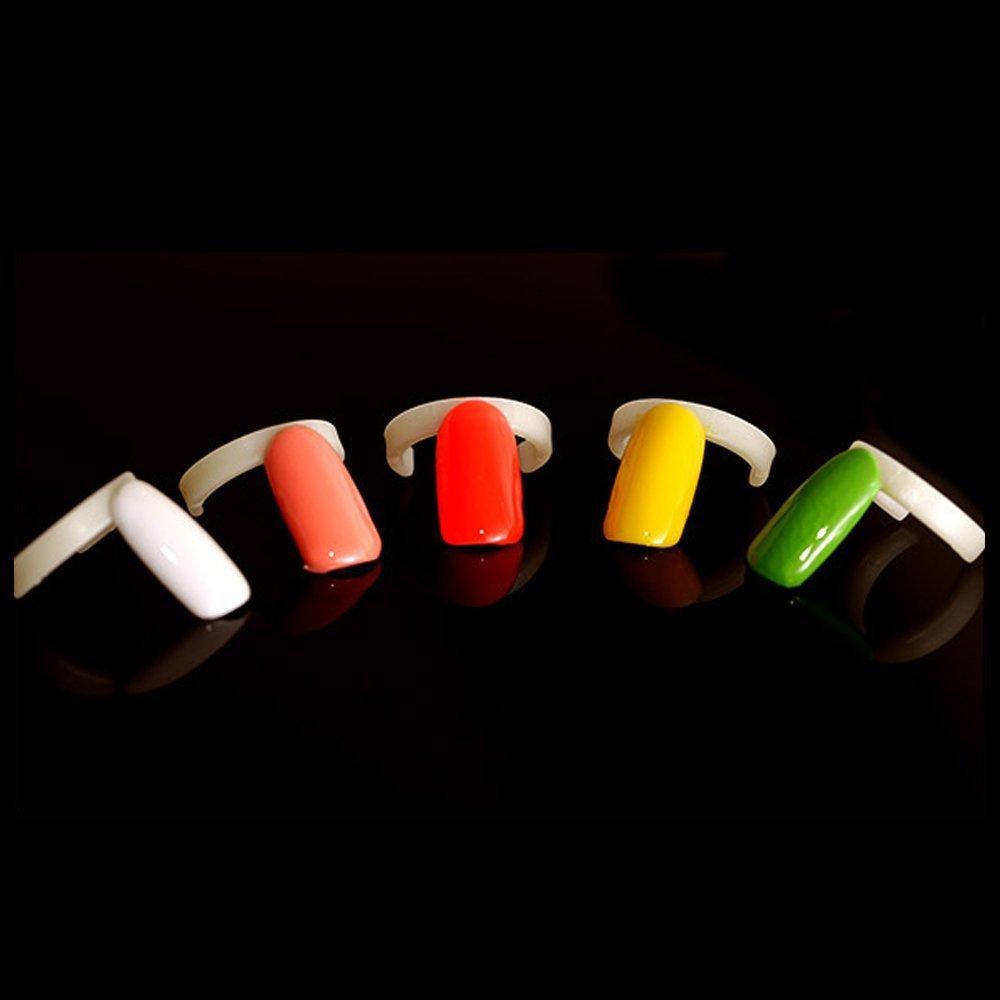 100pcs Nail Polish Rings Display Rings Gel Polish Colour Chart Practice Nail Art False Tips Board DIY Tool By TPnail Limited UKAIALIDTV2164