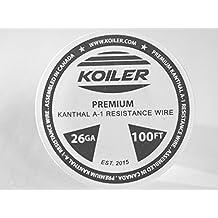 KOILER Premium Kanthal A-1 Resistance Wire - 26 Gauge - 100 Feet