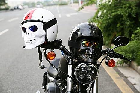 Vhccirt Motorcycle Racing Protección Máscara con gafas polarizadas gafas de esquí máscara de Halloween cos máscara de calavera blanco con lente polarizada ...