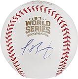 Javier Baez Chicago Cubs Autographed 2016 MLB World Series Baseball - Fanatics Authentic Certified - Autographed Baseballs