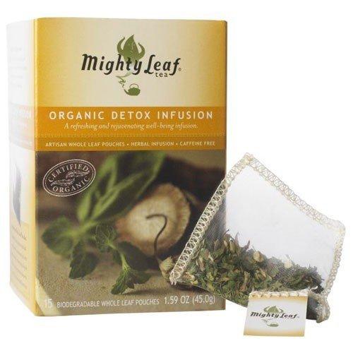 Mighty Leaf Tea, Organic Detox Infusion Herbal Tea --(Pack of 6)