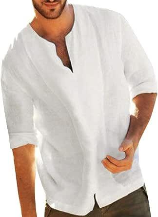 OPAKY Camiseta para Hombre, Verano Manga Corta Hombres Baggy ...