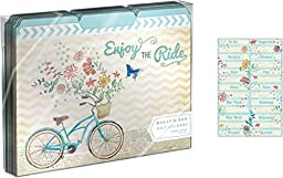 Molly & Rex Enjoy the Ride Bicycle File Folders - Set of 10