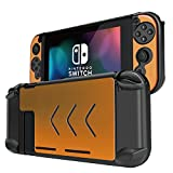 TNP Nintendo Switch Case Cover for Console & Joy-Con Controller - Travel Friendly Aluminum Alloy Hard Shell Protector, Anti-Scratch Shockproof Protective Nintendo Switch Accessories (Gold)