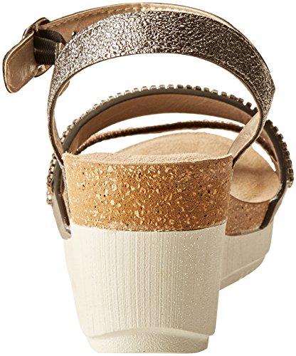 INBLU Women's Ente Ankle Strap Sandals Grey (Canna Di Fucile 045) sxGUtSPT