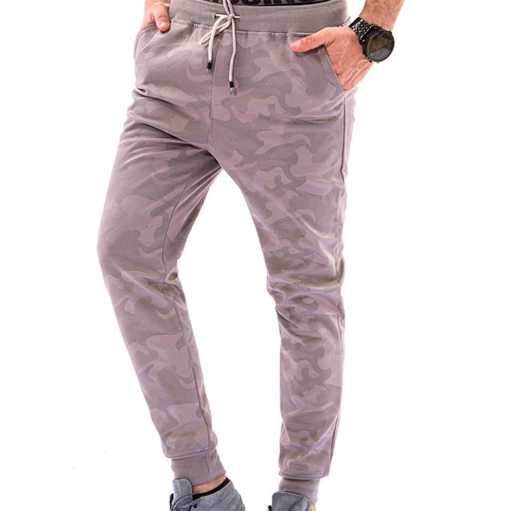 Khaki-XX-Large Ms lily Mens Cotton and Retro Casual Pants