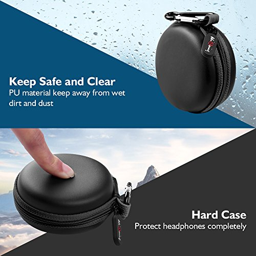Large Product Image of HiGoing Carrying Cases Sweatproof Travel Carrying Cases Portable Protection EVA Hard Earpieces with Carabiner