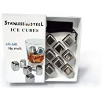 IceQubes Stainless Steel Ice Cubes [Set of 8]