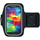 Running & Exercise Armband for Samsung Galaxy S6 S5 S4 iPhone 6 6S, Google Pixel, HTC One & More with Key Holder & Reflective Band (Black)