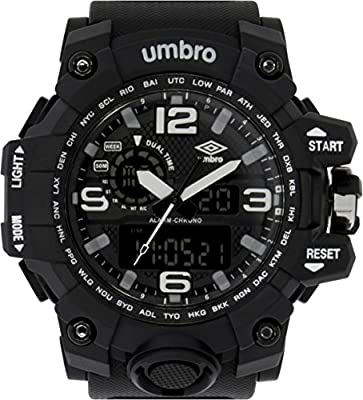UMBRO UMB-010-3 Unisex ABS Black Band, ABS Bezel 51mm Case Digital MIYOTA AL35 SR626Sw Electronic Precision Movement Water Resistant 5 ATM Sport Watch