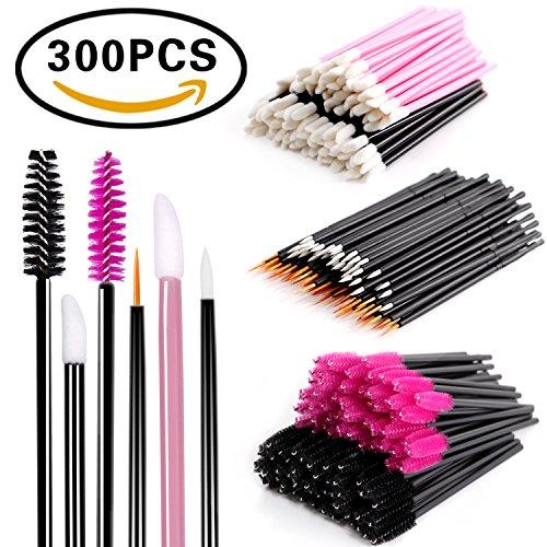 Disposable Makeup Applicators Mascara Wands - BTArtbox Disposable Eyelash Brushes & Lipstick Applicators & Eyeliner Brushes 300PCS Makeup Artist Supplies Kit
