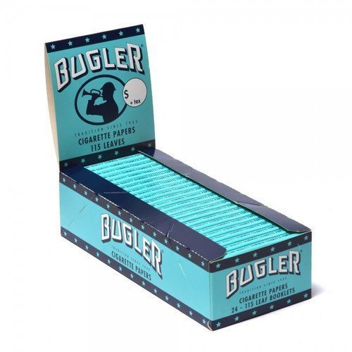 5 Booklets Bugler Rolling Papers Single Wide with Free BB Sticker