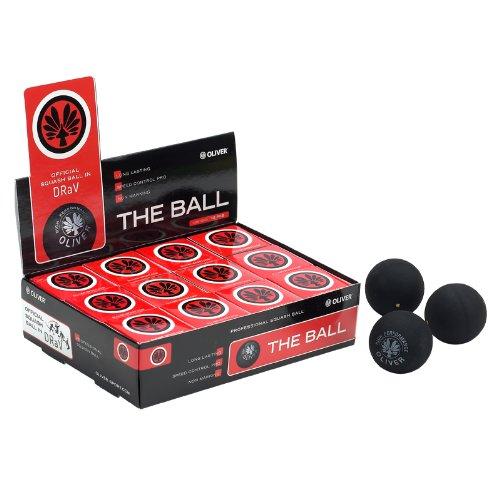 Oliver Balles de Squash 3612sacs jaune 1ou 2points rouge et bleu.
